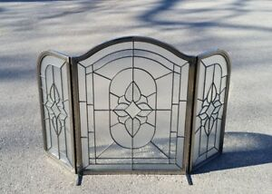 Glass Fireplace Screen
