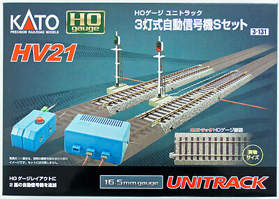 Kato 3-131 Automatic 3 Color Signal S Set HV21 (HO scale)