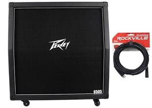 Peavey-6505-412-Slant-300w-Closed-Back-4x12-Guitar-Amplifier-Cabinet-Cable