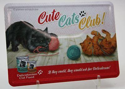 Blechpostkarte / Karte / Blechschild Katze Cute Cats Club Nostalgic Art