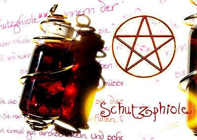 Amulett des Schutzes magische Schutzphiole +Ritual weisse Magie Hexe Talisman