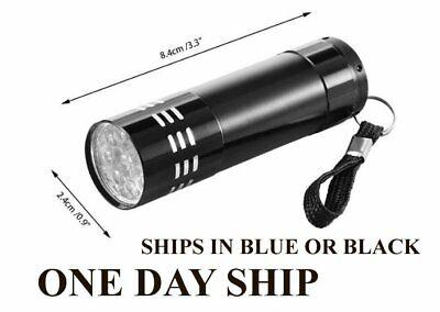 Paranormal Ghost Hunting Equipment UV Ultra Violet LED Flashlight