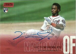 2018 Stadium Club Autographs Red Foil Victor Robles Nationals