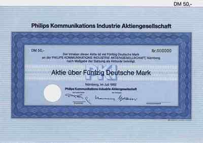Philips Kommunikations Industrie PKI AG 1982 Nürnberg TeKaDe Lucent AT & T 50 DM