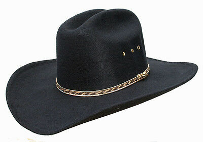 MENS OR LADIES COUNTRY WESTERN COWBOY STETSON BLACK CATTLEMAN HAT LINE DANCING Dance Western Cowboy Hat