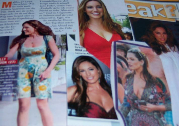 Kelly Brook 37 pc German Clippings Collection sexy busty