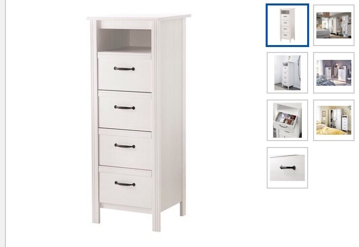 Ikea brusali 4 drawers white in kilburn london gumtree for Ikea brusali dresser