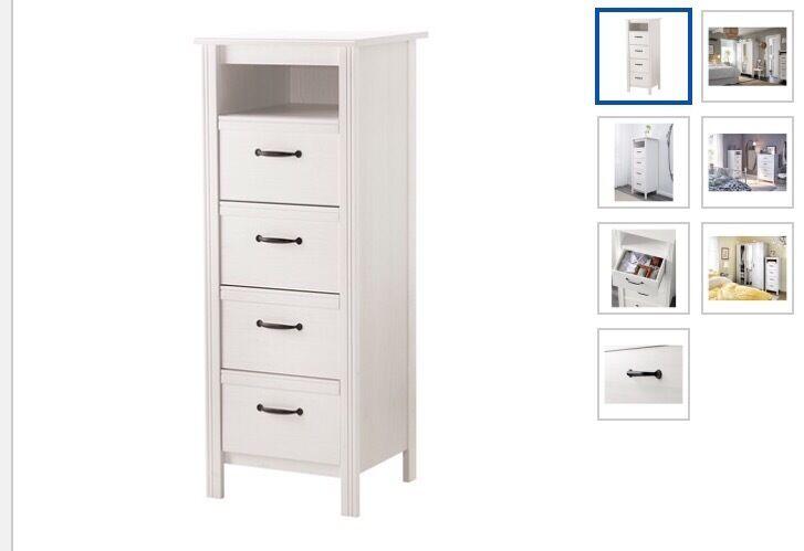 ikea brusali 4 drawers white in kilburn london gumtree. Black Bedroom Furniture Sets. Home Design Ideas
