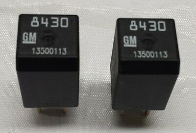 (New GM OEM 4 Pin Electrical Relay 13500113 8430  SET OF 2)