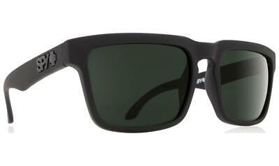 Spy Optic HELM Soft Matte Black HD Plus Gray Green Sunglasses 673015973863