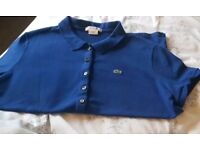 Genuine blue Lacoste top