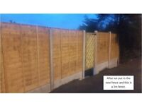 Installation of quality fencing, concrete or wooden posts, large or small, waneylap, slatted etc