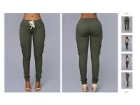 Khaki Green Slim-fit Pants