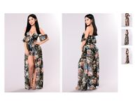 Black Flower Garden Summer Dress - SMALL