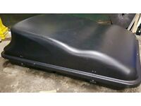 Large black roof box