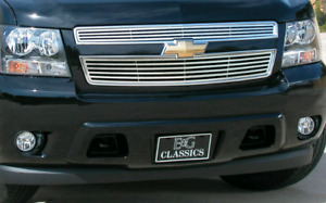 2007-2014 chevy tahoe stainless grille overlay