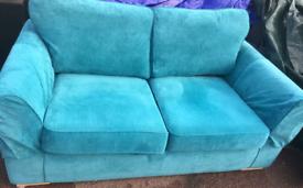 Blue aqua settee