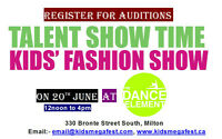 FREE AUDITIONS ARE OPEN FOR KIDS TALENT SHOW AND FASHION SHOW