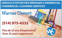 Commercial cleaning services Service d'entretien ménager commerc