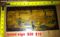 FINAL CLEARANCE - MAKE AN OFFER - Hires Root Beer FOLK ART SIGN