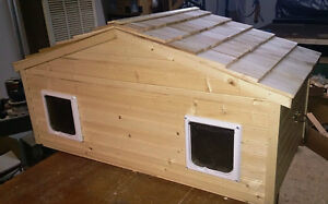 Duplex cat house- separate apartments for your two cats!