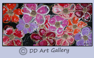 Original Acrylic 3D Painting on Wrapped Canvas