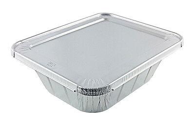 Handi-Foil Half-Size (1/2) Extra-Deep Aluminum Foil Steam Table Pan w/Lid Combo - Half Size Aluminum Pan