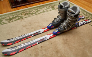 Rossignol ski boots and ski