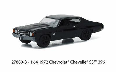 1/64 GREENLIGHT BLACK BANDIT SERIES 16 1972 Chevrolet Chevelle SS 396