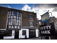 Professional, passionate Junior Sous Chef for The Cutty Sark in Greenwich