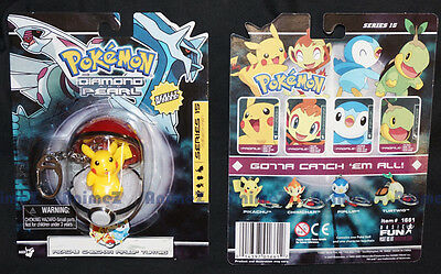 Pokemon Diamond & Pearl Pikachu Pokeball keyring keychain Series 15 *RARE 2007*