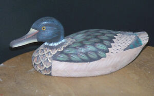 Decorative Hand-Painted Wooden Duck