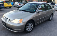 2003 Honda Civic LX, Clean CarFax, 1-owner, 2 yrs free oil chang