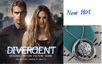 "DIVERGENT Movie Inspired ""DAUNTLESS"" Silver Necklace Pendant"