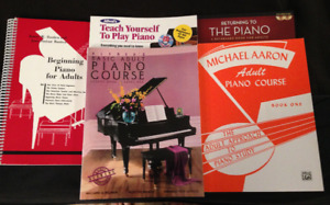 ADULT BEGINNER PIANO BOOKS (5)