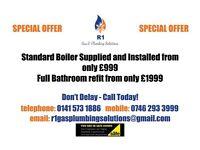 Combi Boiler install £999