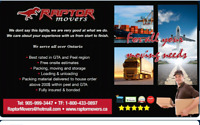 Best rates for jan month end & feb Raptor movers.9059993447
