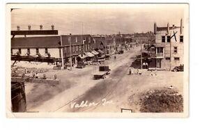 Carte postale photo ancienne Rue Principale Val,D'Or, Qué.
