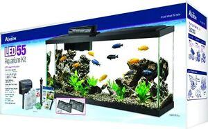 aqueon kit aquarium 55 gallons led** neuf **
