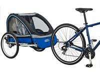2 seater child trailer for bicycle