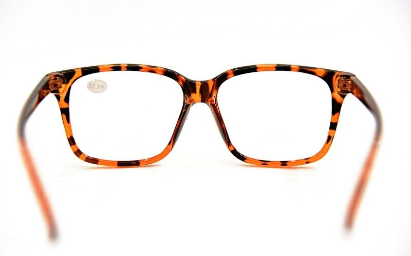 177b51bf14 Details about Stylish Geek Nerd Big Frame Fashion Metal Hinged Reading  Glasses 3 Colours TN44