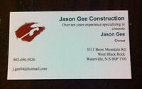 Construction Company Specializing in Concrete Work