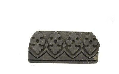 Antique Bunta Stamped Wood Printing Fabric Textile Batik Rajasthan India D9 G