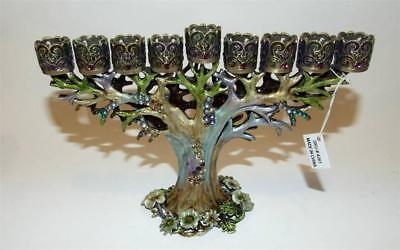 Tree of Life Menorah Bejeweled & Enameled