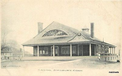 C 1915 Casino Simsbury Connecticut Lathrop Undivided Postcard 12424