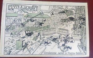 TRIESTE-E-LA-BORA-CHILOMETRI-ALL-039-ORA-CARTOLINA-ILLUSTRATA
