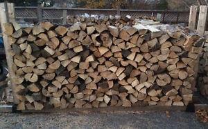 Seasoned hardwood firewood