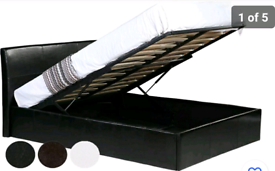 Black Faux Leather Ottoman Single Bed (Mattress Not Included)