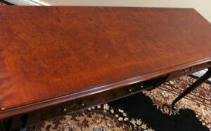 Rare Burled Mohogany Couchback / Hall Table SEE VIDEO