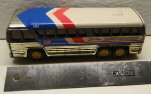 Vintage Tin Toy Buddy L Greyhound Bus